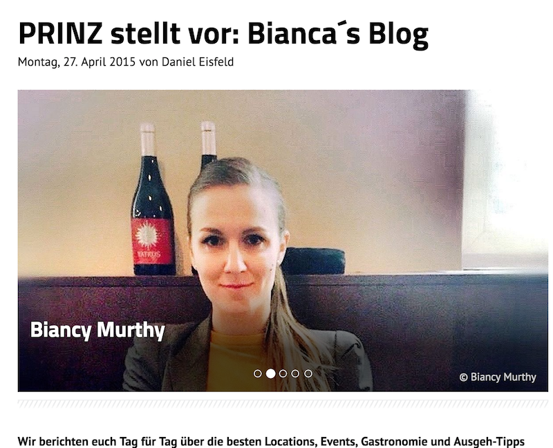PRINZ Interview Biancas Blog Presse