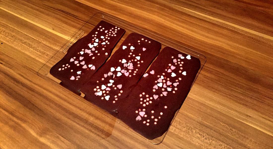 Schokolade trocknen lassen