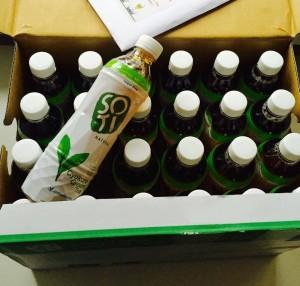 Die Box mit 24 Flaschen