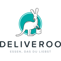 Deliveroo logo (colour, text underneath, German tagline, 1200x1200px)