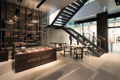 Armani / Dolci und der Aufgang zum Restaurant