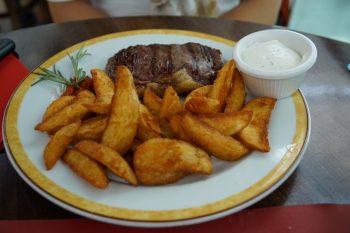 Maredo Steakhouse Flughafen Muenchen Biancas Tasty Tour Rumpsteak mit Wedges
