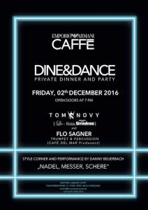 Dine & Dance Abend Emporio Armani Caffe Muenchen