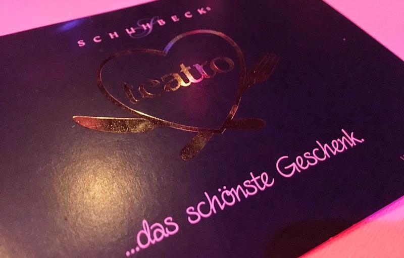 SCHUHBECKS TEATRO Gourmetmenue und Buehnenshow