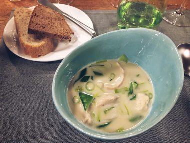 Jochen Schweizer Arena Gastronomie Tom Kha Gai Suppe