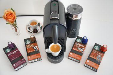 Kaffeekapseln bei Starbucks Nespressomaschine mit Kapseln