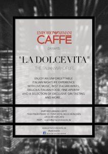 La Dolce Vita im Emporio Armani Caffe 1