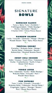Poke Bay Schwabing hawaiianische Bowls