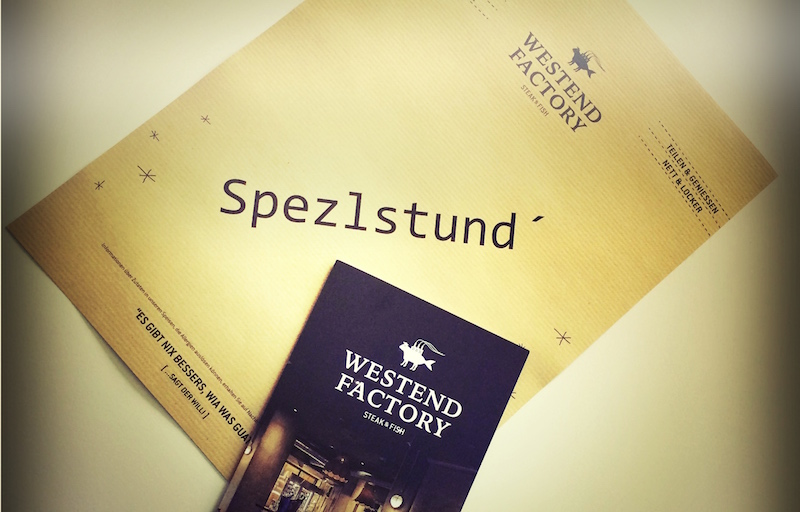 Spezlstund in der Westend Factory Flyer