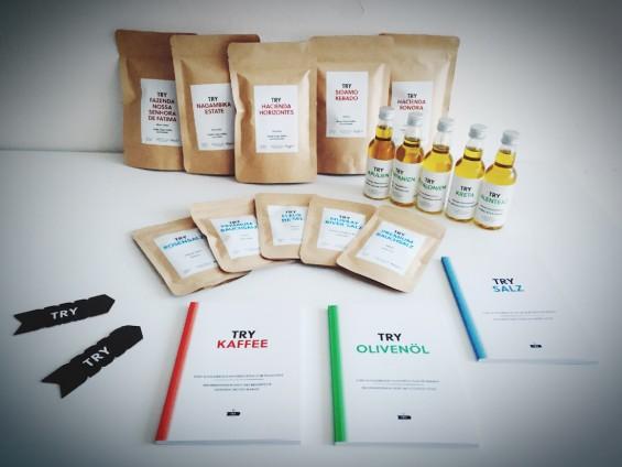 TRY FOODS Boxen Kaffee Salz und Olivenoel Quickcheck 10
