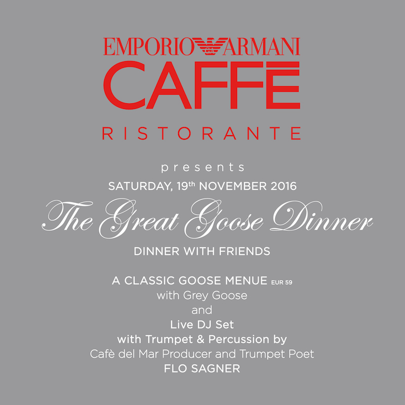 Great Goose Dinner Emporio Armani Caffe