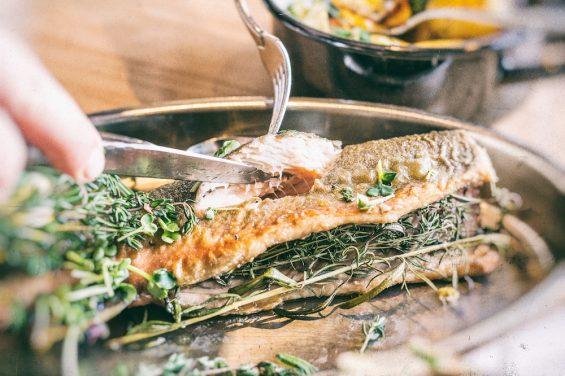 Fischessen in der Westend Factory