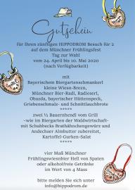 Fruehlingsfest Muenchen Hippodrom Theresienwiese Gewinnspiel