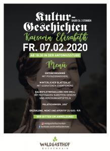 Waldgasthof Buchenhain Geschichten-Dinner Sissi 3