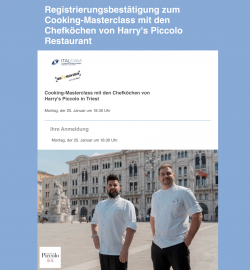 Piccolo Cooking Masterclass Onlinecooking Registrierung